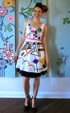 DIY: A Kandinsky-Inspired Dress, Part 1                                                                                                                                                     More