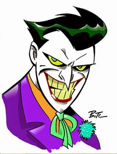 The Joker by Bruce Timm Comic Art Joker Cartoon, Joker Batman, Batman Art, Gotham Batman, Batman Robin, Joker Kunst, Batman Kunst, Bruce Timm, Character Drawing