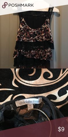 Charlotte Russe leopard print top size M Charlotte Russe leopard print top size M Charlotte Russe Tops