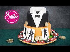 James Bond Motivtorte 007 / Fondant Cake / Casino Royale Cake - YouTube