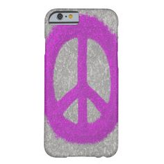 Fuchsia Splat Painted Peace Sign iPhone 6 Case Created by #OneArtsyMomma $44.95 #peace #peacesymbol