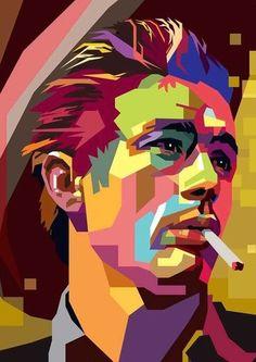☆ James Dean :¦: Pop Art Artist Abdul Rashid ☆