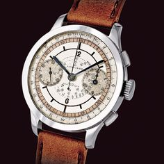 """""""Stainless steel Longines Chronograph with sector dial and calibre 15''' base Valjoux 22 GH with flyback mechanism. #longines #chronograph #flyback…"""""""