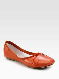 Chloé - Leather Ballet Flats - Saks.com