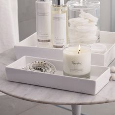 Ceramic Rectangular Container - White | The White Company