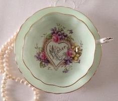"Paragon China Tea Cup and Saucer ""Mother"" Teacup Set by yvette"