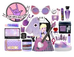 """""""The girls don't care ⚡"""" by lolita-sarif ❤ liked on Polyvore featuring Linda Farrow, Moschino, NARS Cosmetics, Manic Panic, Azzaro, Dolce&Gabbana, CO, Christian Dior, Frankie Morello and Tatty Devine"""