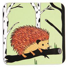 Happy Hedgehog Coaster Or Set - placemats & coasters