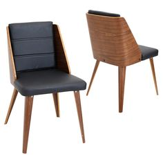 If you are looking to up your style quotient, the gorgeous Galanti chair will do just that. It gives you a walnut wood backrest wraps around dramatic leatherette seating for a classic yet chic look.