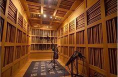 Wooden sound diffusers