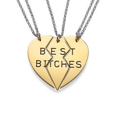 Best Bitches Necklace in Gold Plating | MyNameNecklace