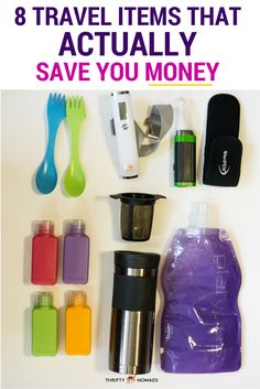 A practical round-up of travel gear that actually cuts costs! The coffee filter is an awesome idea.
