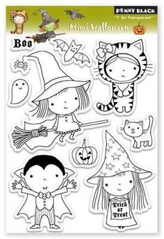 Penny Black Mimi Halloween - Clear Stamp.
