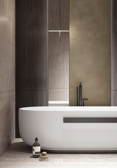 SHABBY FLAT on Behance Bathroom Spa, Washroom, Master Room, Interior Design Inspiration, Interior Ideas, Model Homes, Amazing Bathrooms, Modern Wall, Interior Architecture