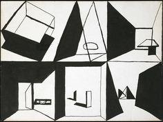 Louis Kahn | sketch for a mural, 1951-53.