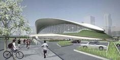 Centro Aquatico de Londres após os jogos Olympic Venues, New Architecture, Zaha Hadid Architects, Olympics, Building, Travel, Design, Concept, Future
