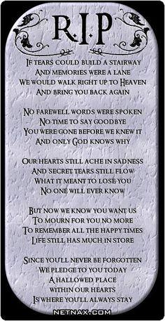 In Memory of a dear friend we lost last night. Gone too soon.