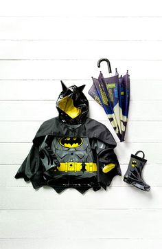 Western Chief 'Batman Everlasting' Light-Up Rain Coat (Toddler, Little Boys & Big Boys)  $49.95 #Nordstrom #kids