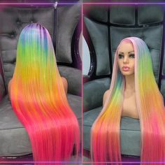 """Wanna 🍭🍬🍭CRUSHAWAY 🍭🍬🍭the new year? here's how - you gotta rock this """"Candy Crush Full Lace Wig"""" customized by the TransformHer Braided Hairstyles For Black Women Cornrows, Black Girls Hairstyles, Weave Hairstyles, Pretty Hairstyles, Hairdos, Candy Hair, Lavender Hair, Queen Hair, Hair Game"""
