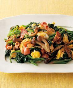ほうれん草と卵の炒めもの Gluten Free Recipes, Healthy Recipes, Healthy Food, Japanese Food, Japanese Recipes, Orange, Free Food, Food And Drink, Meat