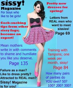 """jenni-fairy: """" Brand NEW Edition of Sissy! """" Joe, your magazine is hear, mother got it for you, sweetie. Prissy Sissy, Sissy Boy, Transgender Captions, Transgender Quotes, French Maid Dress, Captions Feminization, Feminize Me, Feminized Boys, Sissy Maid"""