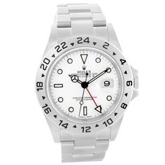 14797 Rolex Explorer II White Dial 40mm Stainless Steel Mens Watch 16570 SwissWatchExpo