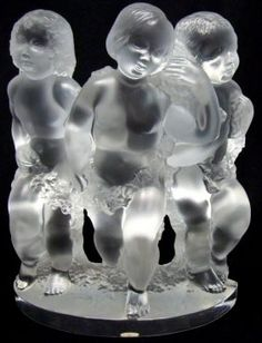 "Lalique Crystal ""Luxembourg"" Figural Group :"