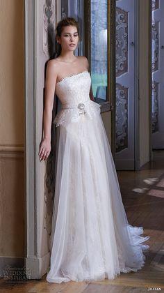 jillian 2016 wedding dresses srtapless straigh across neckline beautiful tulle a line wedding dress camilla