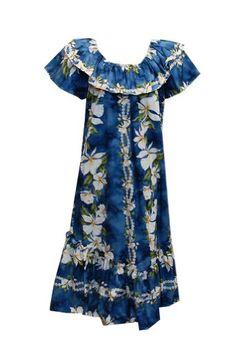 Jade Fashions Inc. Women's Hawaiian Short Double Ruffle Ginger Muumuu