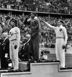 Jesse Owens wins gold in Nazi Germany, 1936