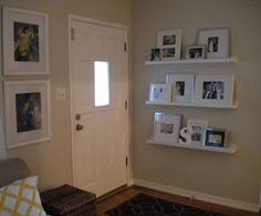 Love these photo ledges for the reading nook