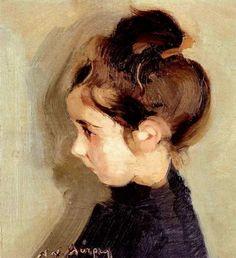 Portrait of a little girl,   Nikolaos Lytras