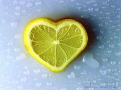 A little sweet with the sour is this lemon in a heart shape.