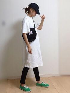 ユニクロのワンピース「クルーネックTワンピース(半袖)」を使ったnicoのコーディネートです。WEARはモデル・俳優・ショップスタッフなどの着こなしをチェックできるファッションコーディネートサイトです。