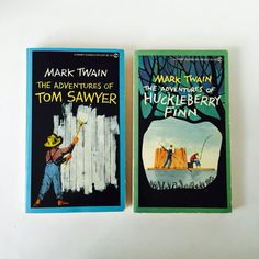 Mark Twain Books / Vintage Mark Twain The Adventures of Tom SawyerHuckleberry…