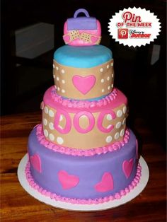 ♥DOC MCSTUFFINS CAKE♥ I want to do this for Annalea's 2nd Birthday theme. . . She loves Doc