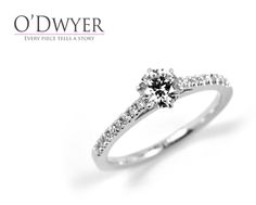 18ct white gold ring with sparkling diamonds.
