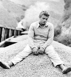 James Dean on the set of East Of Eden