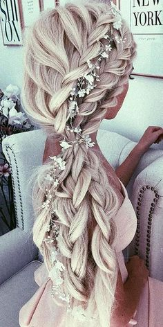 Side braided hairstyle 2018
