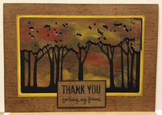 Artfully Articulate: Dreamweaver Thursday...Tree Line with Louise Healy. #cre8time #Stampendous #DWStencils