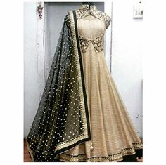 Lady studio latest designer Beige long embroidered Anarkali suit Hey Check out this #Designer #Beige Long #Embroidered #Anarkali #Suit  DUPATTA FABRIC : #net  DUPATTA COLOUR : #black  WORK : Embroidery  TOP SIZE : 42′  TOP LENGTH : 54′  KOTI BUST SIZE : 40′  PRODUCT SIZE : Bottom – 2.5mtr : Dupatta – 2mtr  PRODUCT TYPE : #SEMI-Stitched  WEIGHT : 1 kg  OCCASION : #Party, #Wedding   #hotshopworld #fashion #womenwear #ladiesuit #embroidery #anarkalisuit #