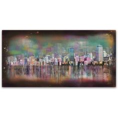 Trademark Fine Art 'Boston' Canvas Art by Ellicia Amando, Size: 12 x 24, Multicolor