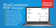 WooCommerce PDF Invoice is the most professional and feature-rich invoicing extension which comes with premium support. For those that mean business.