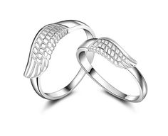 Find More Rings Information about No Minimum Order Wholesale Sterling Silver CZ Zircon Stone Anniversary Angel Wing Ring for Man and Woman Platinum Plated J240,High Quality ring boxing,China ring Suppliers, Cheap ring bracket from ULove Fashion Jewelry Store on Aliexpress.com