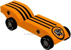 Image result for tiger pinewood derby car