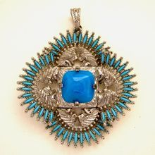 This will be half price during the Red Tag Sale!  Castlecliff  Vrba Indian Head Silver Tone Pendant Necklace