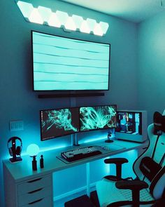 led lights tv pastel colors home decor wall decor ideas for living room bonus room ideas mirror wall decor 3 white color bedroom ideas Pc Setup, Gaming Setup, Chaise Gaming, Cutting Tables, Strip Lighting, Lighting Ideas, Led Strip, Call Of Duty