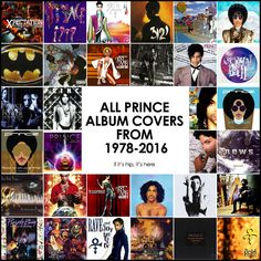 All of the Prince album covers in chronological order on if its hip its here