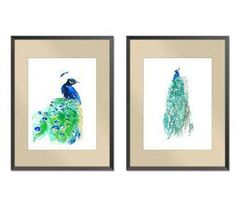 "40% off sale two   Peacock Watercolor Paintings- Art Print paper size 8""x10"" on Etsy, $19.00"
