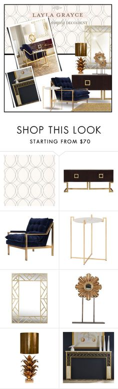 """Simply Elegant"" by qrystal5to9 ❤ liked on Polyvore featuring interior, interiors, interior design, home, home decor, interior decorating, Graham & Brown, Worlds Away, contestentry and simplydecodentwithlaylagrayce"